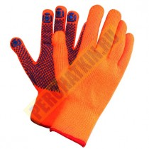 Перчатки акриловые с начесом  (УТЕПЛЕННЫЕ) 7.5 класс. С ПВХ ТОЧКА ЗИМА