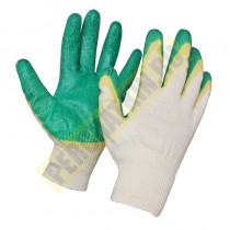 "Перчатки с двойным латексным покрытием, ""Люкс "", х/б, класс 13"