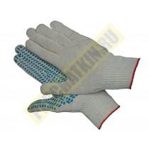 """Перчатки """"ЛЮКС"""" с ПВХ - покрытием, перчатки х/б, 5-ти нитка, класс 7,5"""