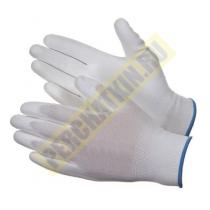 """Перчатки нейлоновые, 13 класс, с полиуретановым покрытием """"Супер - Люкс"""""""