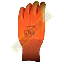 Перчатки бензомаслостойкие ПВХ «ПЛАМЯ» (манжет - резинка)
