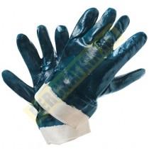 """Перчатки маслобензостойкие, с полным нитрильным обливом в 2 слоя, """"Люкс"""", манжет крага"""